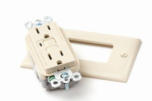 A new GFCI electrical outlet.